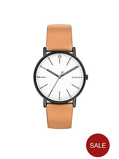 skagen-skagen-signatur-silver-tone-dial-tan-leather-strap-mens-watch