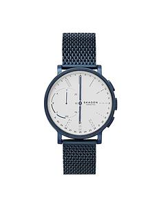 skagen-skagen-connected-hagen-hybrid-white-dial-blue-mesh-smart-watch