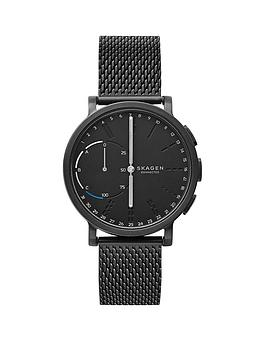 Skagen Skagen Connected Hagen Hybrid Black Dial Black Mesh Smart Watch