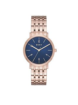 dkny-dkny-minetta-blue-dial-rose-tone-bracelet-ladies-watch