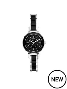 dkny-dkny-ellington-black-dial-stainless-steel-bracelet-ladies-watch
