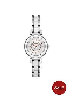 dkny-dkny-ellington-silver-tone-dial-rose-detail-stainless-steel-ladies-watch