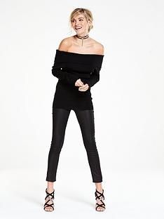wallis-foldover-bardot-jumper