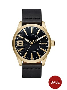 diesel-rasp-black-dial-black-leather-strap-mens-watch