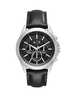 Armani Exchange Black Chronograph Black Silicone Strap Mens Watch