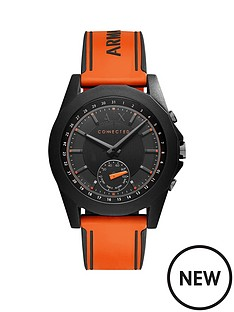 armani-exchange-armani-exchange-connected-drexler-black-dial-orange-silicone-smart-watch