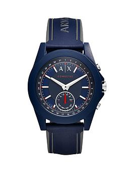 Armani Exchange Connected Blue Dial Blue Silicone Smart Watch