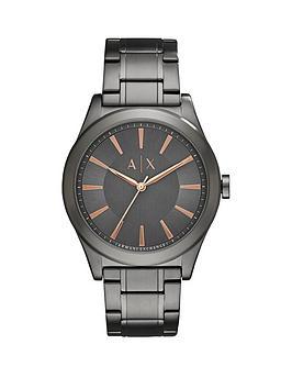 Armani Exchange Armani Exchange Grey Dial Rose Tone Accents Grey Bracelet Mens Watch