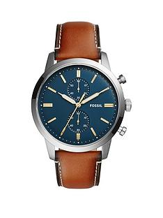 fossil-fossil-townsman-blue-dial-chronograph-silver-tone-case-leather-strap-mens-watch