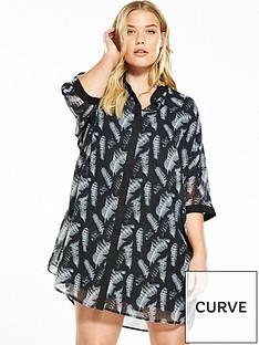 religion-curve-cascade-shirt-dress