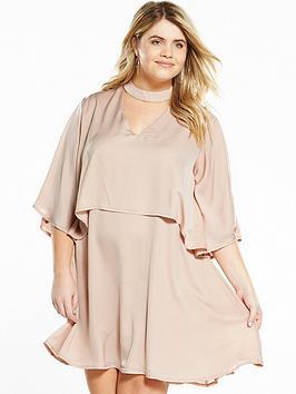 Fashion Union Curve Curve Satin Shift Dress  Pink