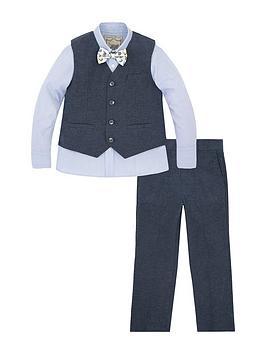 Monsoon Boys Lachlan Linen Mix 4 Piece Suit Set