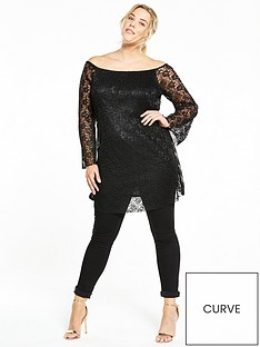 v-by-very-curve-curve-pleated-lace-swing-tunicnbsp--black
