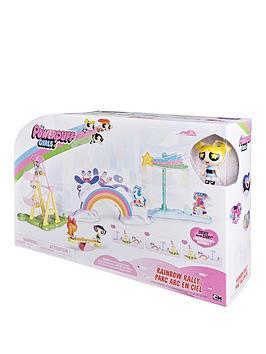 the-powerpuff-girls-the-power-puff-girls-rainbow-rally-deluxe-storymaker-playset