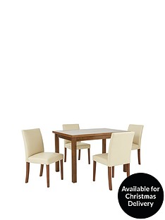 evelyn-120-150-cm-solid-wood-extending-dining-table-4-lucca-chairs