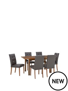 evelyn-120-150cm-solid-wood-extending-dining-table-6-derby-chairs