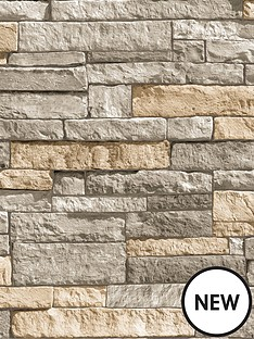 superfresco-easy-ledgestone-grey-and-terracotta-wallpaper