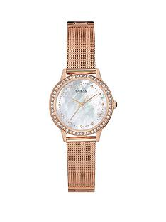 guess-chelsea-guess-ladies-rose-gold-mesh-bracelet-watch