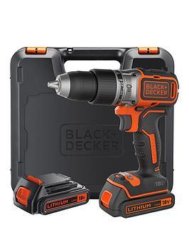 Black & Decker Black &Amp Decker B188KGb 18V Lithium Ion Brushless Combi Hammer Drill X2 Batteries