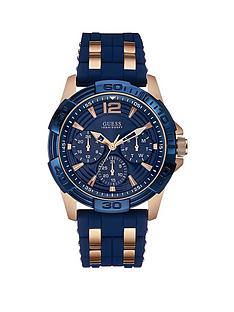 guess-oasis-guess-men039s-blue-textured-silicone-strap-watch