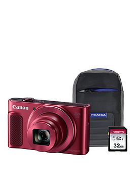 Canon Canon Powershot Sx620 Hs Red Camera Kit In 32Gb Sdhc Class 10 Card  ... Picture