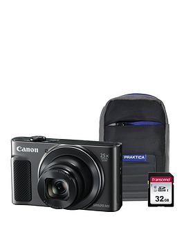 Canon Canon Powershot Sx620 Hs Black Camera Kit In 32Gb Sdhc Class 10 Card  ... Picture