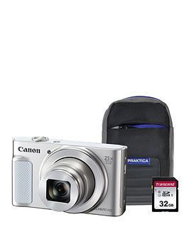 Canon   Powershot Sx620 Hs White Camera Kit In 32Gb Sdhc Class 10 Card &Amp; Case
