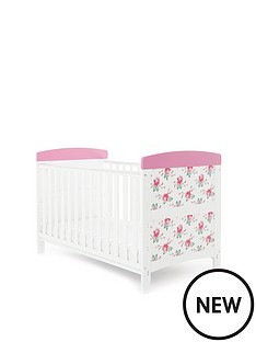 obaby-cottage-rose-cot-bed