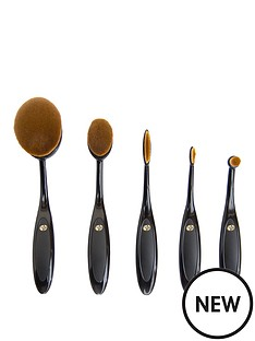 essential-microfibre-professional-oval-cosmetic-brush-collection