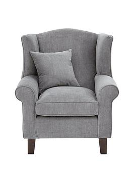 Very Denton Grace Chenille Fabric Wing Chair Picture