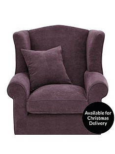 ideal-home-dentonnbspgrace-chenille-fabric-wing-chair