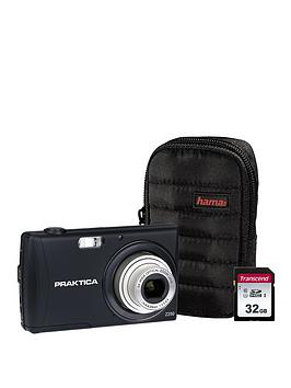 Praktica Praktica Luxmedia Z250 Black Camera Kit Inc 16Gb Sdhc Class 10 Card &Amp Case