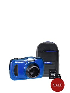 praktica-praktica-luxmedia-wp240-wtprf-blue-camera-kit-inc-8gb-microsd-card-amp-case