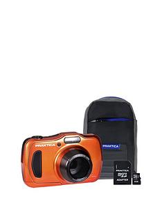 praktica-luxmedia-wp240-wtprf-orange-camera-kit-inc-8gb-microsd-card-amp-case