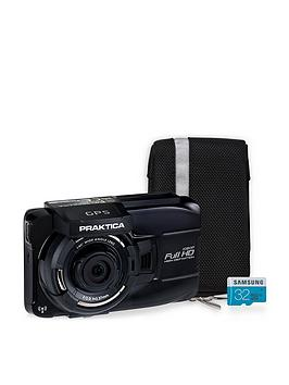 Praktica Praktica 10Gw Wireless Gps Car Dash Cam Kit Inc 32Gb Microsd Sd Adapter &Amp Case