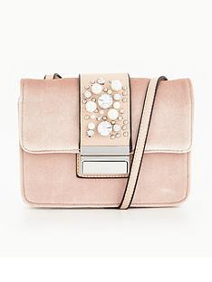 miss-selfridge-table-velvet-pearl-bag