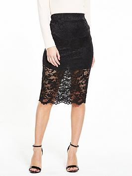 V By Very Petite Lace Pencil Skirt