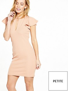 v-by-very-petite-petite-angel-sleeve-rib-bodycon-dress