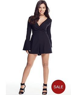 v-by-very-petite-pleated-sleeve-playsuit