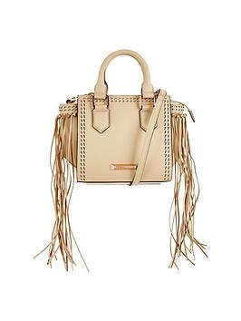 Kendall & Kylie Kendall &Amp Kylie Brook Mini Fringed Tote Bag