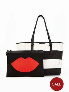 kendall-kylie-kendall-amp-kylie-shelly-beach-canvas-beach-tote-bag-with-pouch