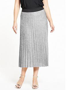 so-fabulous-metallic-pleat-skirt-silver