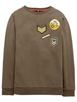 V By Very Boys Badge Sweat Top