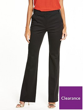 v-by-very-petite-ponte-bootcut-trouser-black