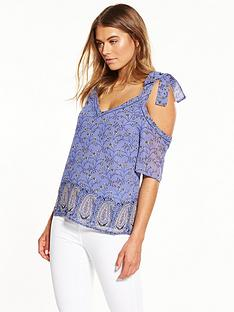 miss-selfridge-paisley-print-cold-shoulder-top