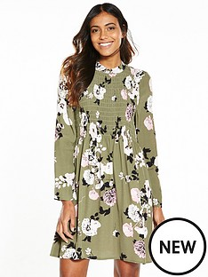 miss-selfridge-sheered-printed-floral-babydoll-dress