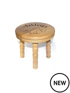personalised-wooden-dinosaur-stool