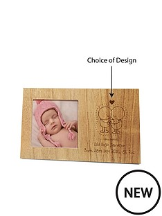 chilli-bubbles-chilli-amp-bubbles-wooden-photo-frame-with-choice-of-occasions