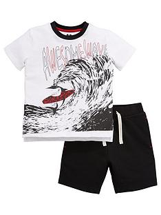 mini-v-by-very-boys-shark-wave-jersey-short-set