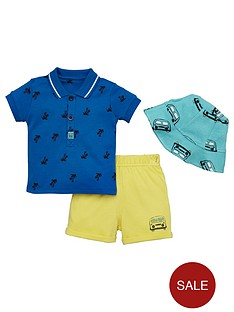 ladybird-baby-boys-sun-hat-polo-and-short-set